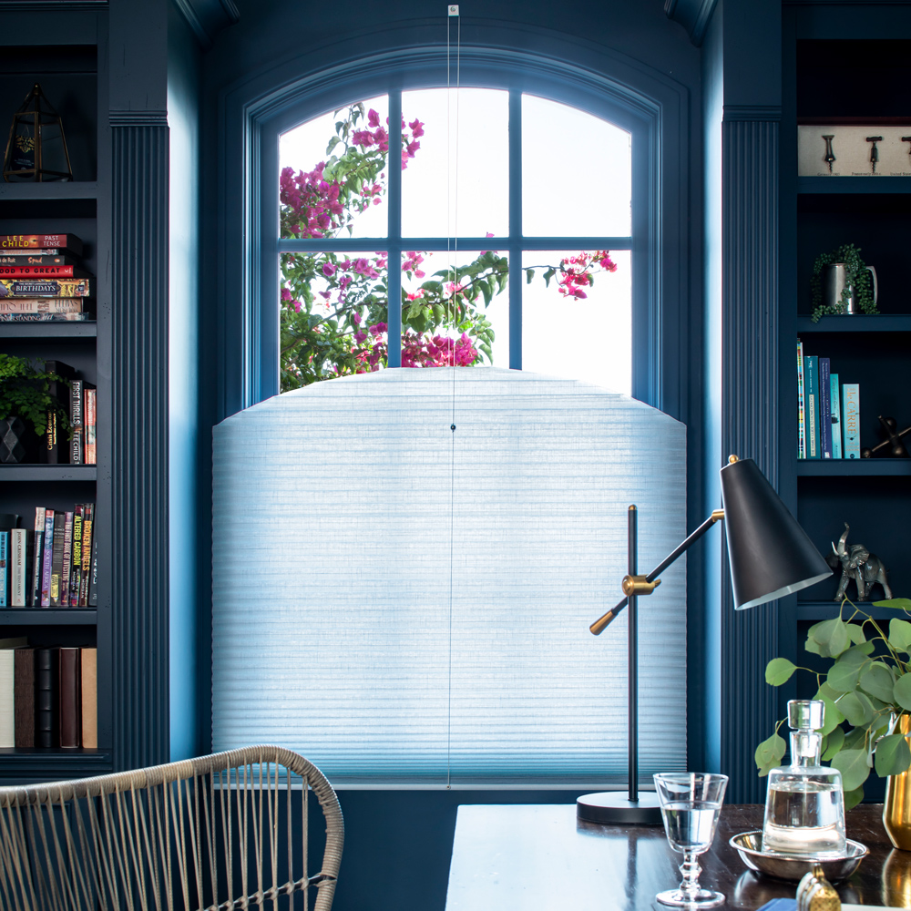 Top-Down Operable Arch Cellular Shades